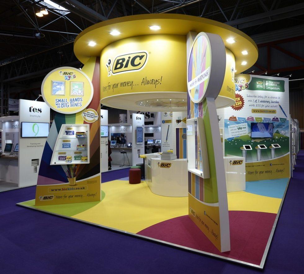 bespoke exhibition stand - BIC