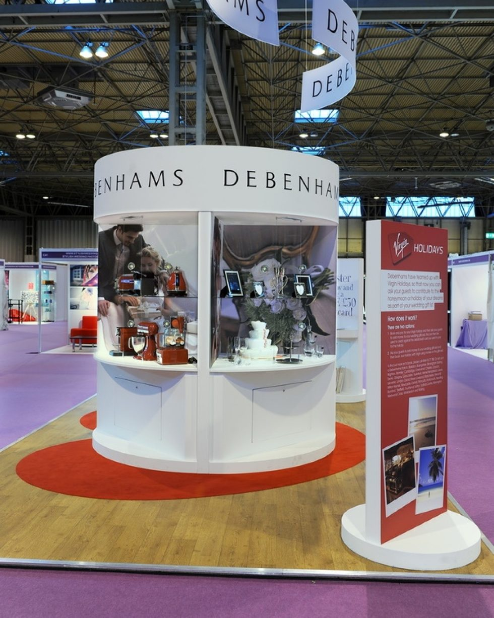 bespoke exhibition stand - debenhams