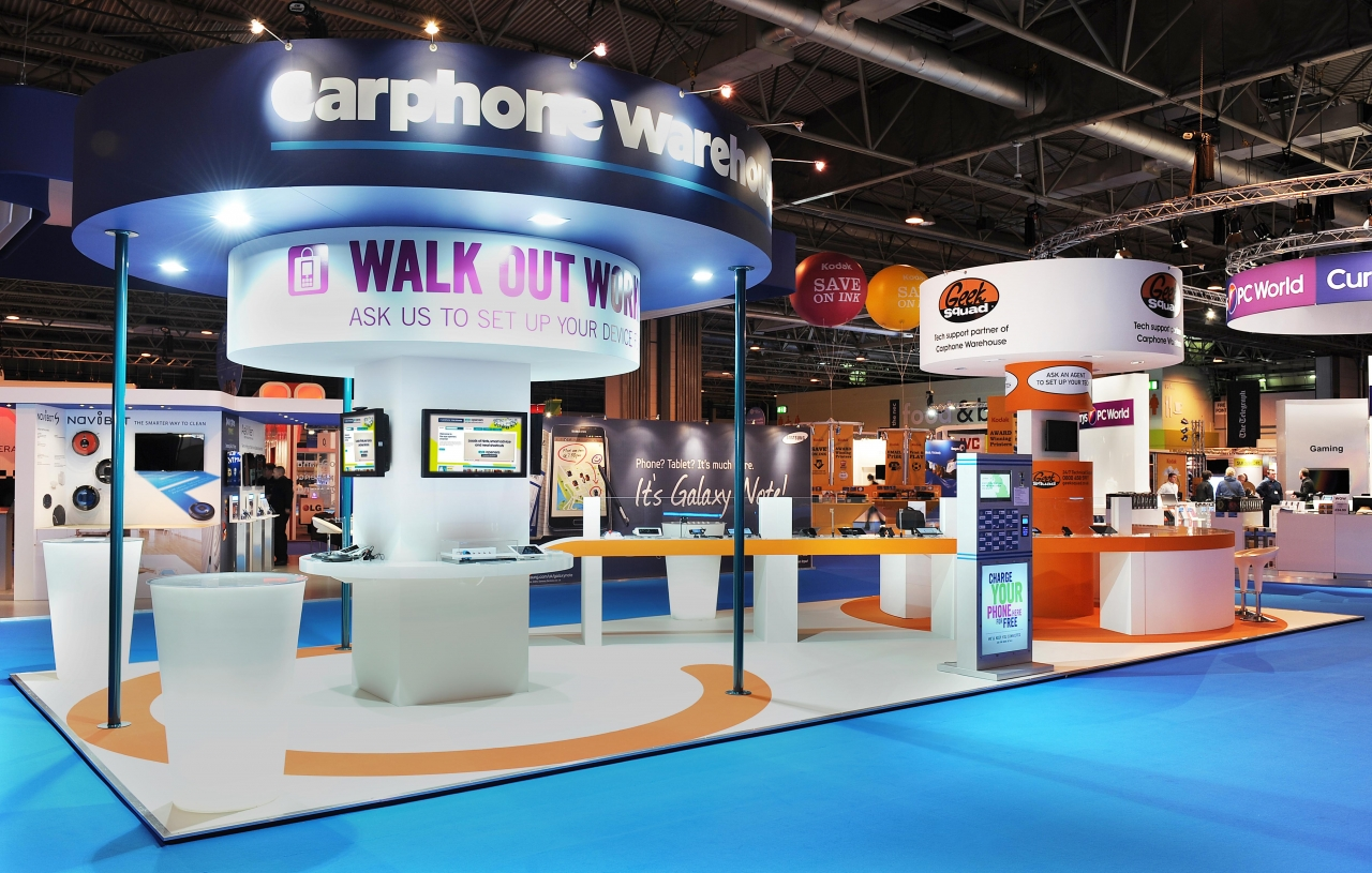 bespoke exhibition stand - Exh Carphone Warehouse